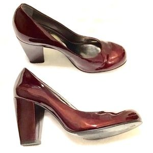 Vince Camuto Patent Leather Block Heels